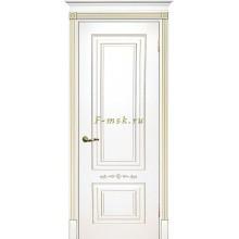 Дверь Смальта 04 Белый ral 9003 патина золото  глухое (Товар № ZF114714)
