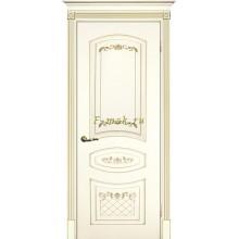 Дверь Смальта 05 Слоновая кость ral 1013 патина золото  глухое (Товар № ZF114721)