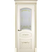 Дверь Смальта 05 Слоновая кость ral 1013  Сатинат, шелкотрафаретная печать со стеклом (Товар № ZF114720)