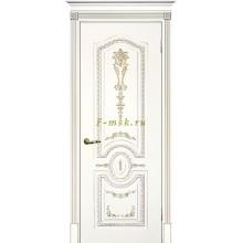 Дверь Смальта 11 Белый ral 9003 патина золото  глухое (Товар № ZF114741)
