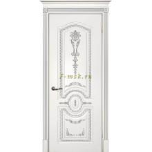 Дверь Смальта 11 Белый ral 9003 патина серебро  глухое (Товар № ZF114743)