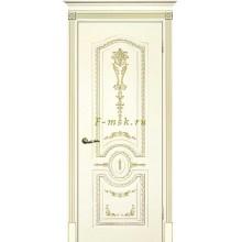 Дверь Смальта 11 Слоновая кость ral 1013 патина золото  глухое (Товар № ZF114744)