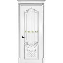 Дверь Смальта 13 Белый ral 9003 патина серебро  глухое (Товар № ZF114754)