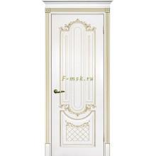 Дверь Смальта 13 Белый ral 9003 патина золото  глухое (Товар № ZF114752)