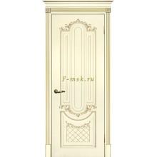 Дверь Смальта 13 Слоновая кость ral 1013 патина золото  глухое (Товар № ZF114756)