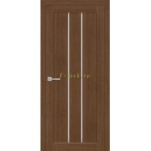 Дверь ТЕХНО-602 Орех Ночавелла  белый сатинат со стеклом (Товар № ZF114766)