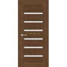 Дверь ТЕХНО-607 Орех Ночавелла  белый сатинат со стеклом (Товар № ZF114771)