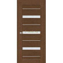 Дверь ТЕХНО-642 Орех Ночавелла  белый сатинат со стеклом (Товар № ZF114789)