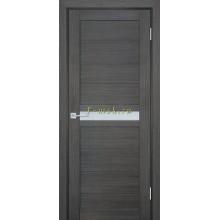 Дверь ТЕХНО-703 Грей  белый сатинат со стеклом (Товар № ZF114801)
