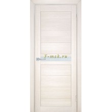 Дверь ТЕХНО-703 Сандал бежевый  белый сатинат со стеклом (Товар № ZF114804)