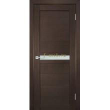 Дверь ТЕХНО-703 Венге  белый сатинат со стеклом (Товар № ZF114800)