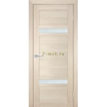 Дверь ТЕХНО-705 Капучино  белый сатинат со стеклом (Товар № ZF114807)