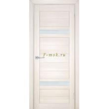 Дверь ТЕХНО-705 Сандал бежевый  белый сатинат со стеклом (Товар № ZF114809)