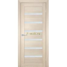 Дверь ТЕХНО-707 Капучино  белый сатинат со стеклом (Товар № ZF114812)