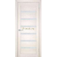 Дверь ТЕХНО-707 Сандал бежевый  белый сатинат со стеклом (Товар № ZF114814)