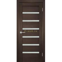 Дверь ТЕХНО-707 Венге  белый сатинат со стеклом (Товар № ZF114810)