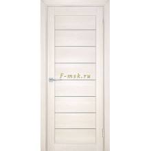 Дверь ТЕХНО-708 Сандал бежевый  белый сатинат со стеклом (Товар № ZF114819)
