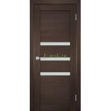 Дверь ТЕХНО-709 Венге  белый сатинат со стеклом (Товар № ZF114820)