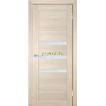 Дверь ТЕХНО-709 Капучино  белый сатинат со стеклом (Товар № ZF114822)