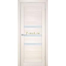 Дверь ТЕХНО-709 Сандал бежевый  белый сатинат со стеклом (Товар № ZF114824)