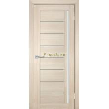 Дверь ТЕХНО-741 Капучино  белый сатинат со стеклом (Товар № ZF114841)