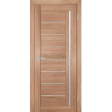 Дверь ТЕХНО-741 Миндаль  белый сатинат со стеклом (Товар № ZF114842)