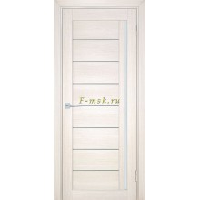 Дверь ТЕХНО-741 Сандал бежевый  белый сатинат со стеклом (Товар № ZF114843)