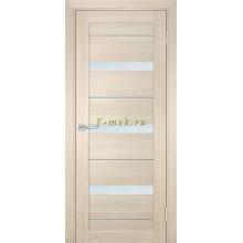Дверь ТЕХНО-742 Капучино  белый сатинат со стеклом (Товар № ZF114846)