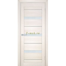 Дверь ТЕХНО-742 Сандал бежевый  белый сатинат со стеклом (Товар № ZF114848)