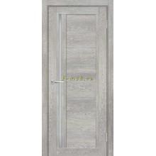 Дверь ТЕХНО-801 Чиаро гриджио  белый сатинат со стеклом (Товар № ZF114853)