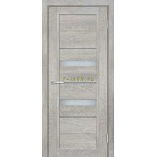 Дверь ТЕХНО-802 Чиаро гриджио  белый сатинат, серый лакобель со стеклом (Товар № ZF114858)