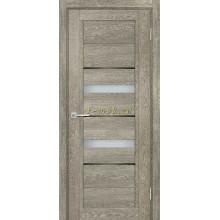Дверь ТЕХНО-802 Гриджио  белый сатинат, черный лакобель со стеклом (Товар № ZF114856)