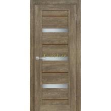 Дверь ТЕХНО-803 Бруно  белый сатинат, кофе лакобель со стеклом (Товар № ZF114859)