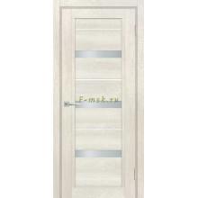 Дверь ТЕХНО-803 Бьянко  белый сатинат, белый лакобель со стеклом (Товар № ZF114860)