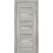 Дверь ТЕХНО-803 Чиаро гриджио  белый сатинат, серый лакобель со стеклом (Товар № ZF114863)