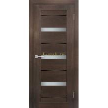 Дверь ТЕХНО-803 Фреско  белый сатинат, черный лакобель со стеклом (Товар № ZF114862)