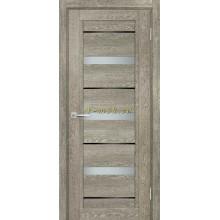 Дверь ТЕХНО-803 Гриджио  белый сатинат, черный лакобель со стеклом (Товар № ZF114861)