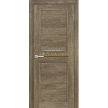 Дверь ТЕХНО-805 Бруно  белый сатинат, кофе лакобель со стеклом (Товар № ZF114869)