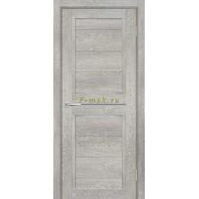 Дверь ТЕХНО-805 Чиаро гриджио  белый сатинат, серый лакобель со стеклом (Товар № ZF114873)