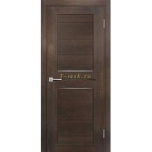 Дверь ТЕХНО-805 Фреско  белый сатинат, черный лакобель со стеклом (Товар № ZF114872)