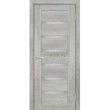 Дверь ТЕХНО-807 Чиаро гриджио  белый сатинат со стеклом (Товар № ZF114883)