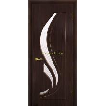Дверь Трио Венге (Эбен)  Сатинат, пескоструйная обработка со стеклом (Товар № ZF114967)