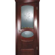 Дверь Фрейм 04 Красное дерево  Бронза сатинат, гравированное, художественное, рис. Рим со стеклом (Товар № ZF115055)