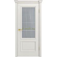 Дверь Фрейм 07 Бьянко  ст.Премиум светлое, гравировка рис.Решетка со стеклом (Товар № ZF115057)