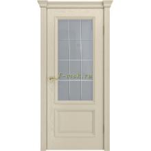 Дверь Фрейм 07 Крем  ст.Премиум светлое, гравировка рис.Решетка со стеклом (Товар № ZF115059)