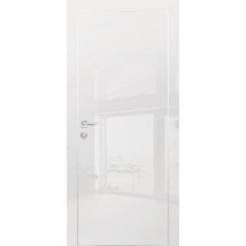 Дверь HGX-1 Белый глянец  Глянцевое покрытие глухое