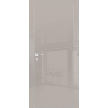 Дверь HGX-1 Латте глянец  Глянцевое покрытие глухое