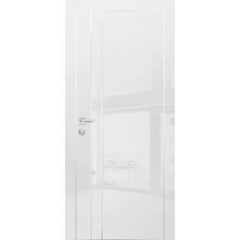 Дверь HGX-14 Белый глянец  Глянцевое покрытие глухое с молдингом