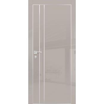 Дверь HGX-14 Латте глянец  Глянцевое покрытие глухое с молдингом