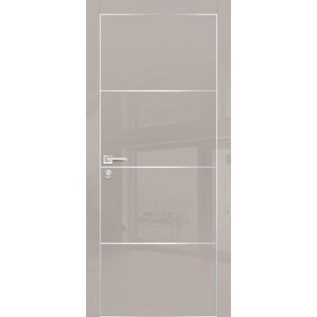 Дверь HGX-2 Латте глянец  Глянцевое покрытие глухое с молдингом